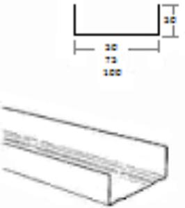 Obrázek Profil UW 75/4000 CZ